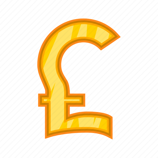 cartoon, cash, currency, money, pound, sign, sterling icon