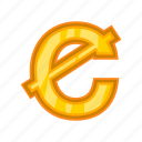 business, cartoon, cash, cedi, currency, ghanaian, money icon