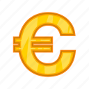 cartoon, cash, currency, euro, market, money, sign icon