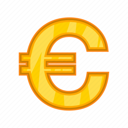 Cartoon Cash Currency Euro Market Money Sign Icon
