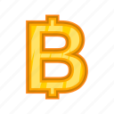 baht, bitcoin, cartoon, cash, currency, money, thailand icon