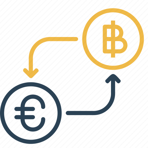 bitcoin, conversion, currency, euro, finance, money, to icon