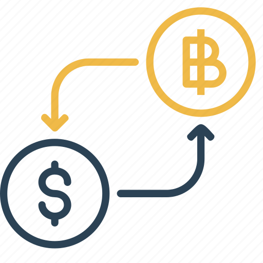 bitcoin, conversion, currency, dollar, finance, money, to icon
