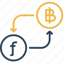 bitcoin, conversion, currency, dutch, guilder, money, to icon