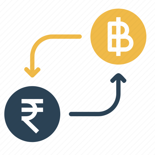 bitcoin, conversion, convert, currency, indian, money, rupee icon