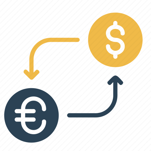conversion, currency, dollar, euro, exchange, finance, money icon