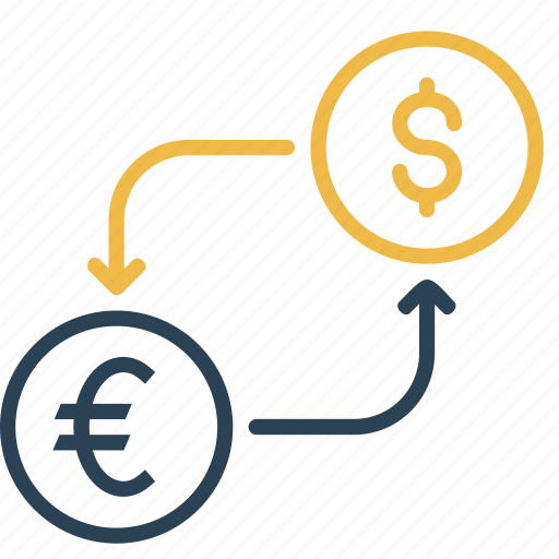 conversion, currency, dollar, euro, finance, money, to icon