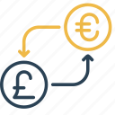 conversion, currency, euro, money, pound, to, uk icon
