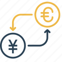 china, conversion, currency, euro, money, to, yen icon