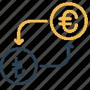 conversion, currency, euro, lira, money, to, turkey icon