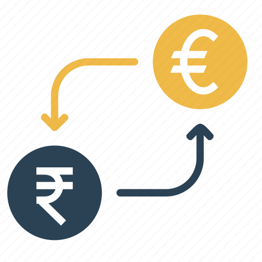 conversion, convert, currency, euro, indian, money, rupee icon