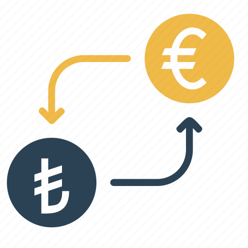 conversion, convert, currency, euro, lira, money, turkey icon