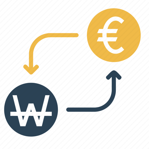 conversion, convert, currency, euro, finance, money, won icon