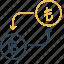 bitcoin, conversion, currency, lira, money, to, turkey