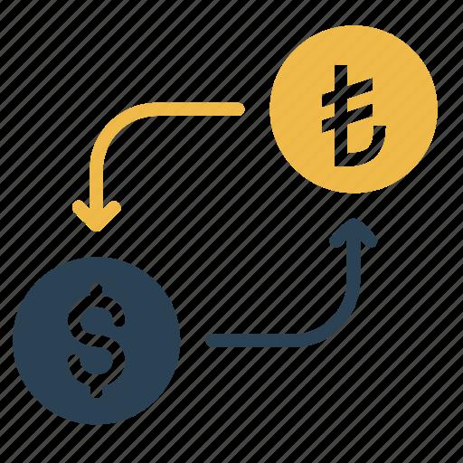 american, conversion, currency, dollar, lira, money, turkey icon