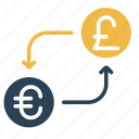 conversion, convert, currency, euro, finance, money, pound icon