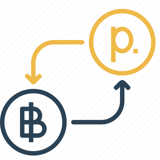 bitcoin, conversion, currency, finance, money, ruble, to icon