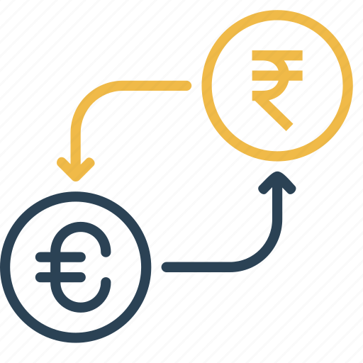 conversion, currency, euro, finance, money, rupee, to icon
