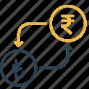 conversion, currency, lira, money, rupee, to, turkey