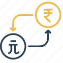 conversion, currency, dollar, money, rupee, taiwan, to icon