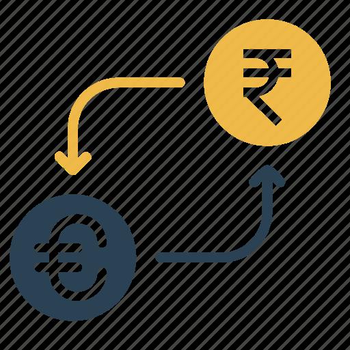 conversion, convert, currency, euro, exchange, money, rupee icon