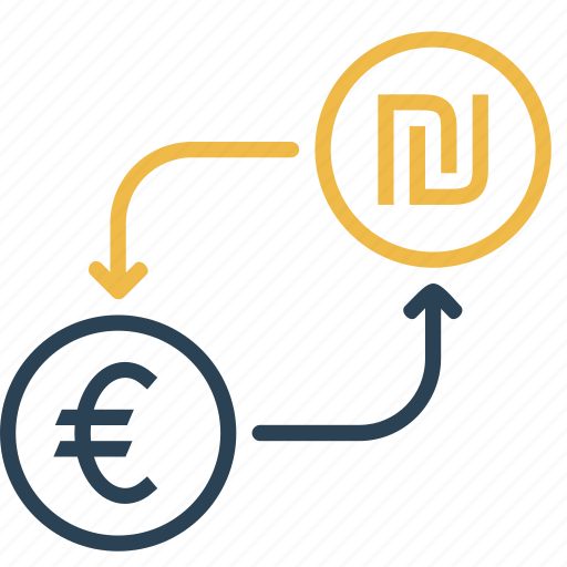 conversion, currency, euro, finance, money, shekel, to icon