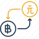 bitcoin, conversion, currency, dollar, finance, money, taiwan icon
