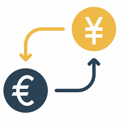 conversion, convert, currency, euro, finance, money, yen icon