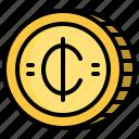 business, cash, cedis, coin, money icon