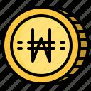 business, cash, coin, money, won icon