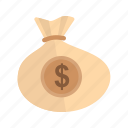 bag, business, cash, dollar, finance, money, sack icon