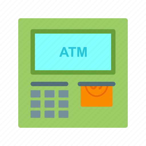 atm, bank, card, cash, machine, password, pin icon