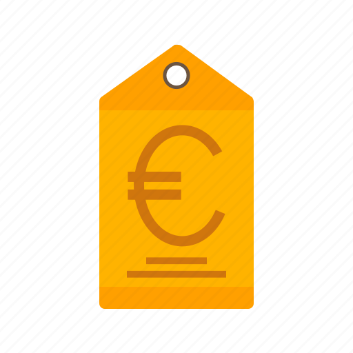 currency, euro, finance, label, money, price, tag icon