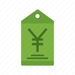 currency, finance, label, money, price, tag, yen icon