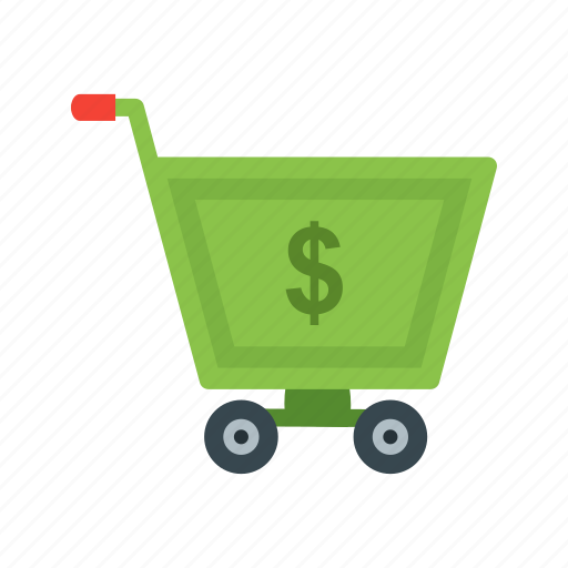 cart, currency, dollar, economic, market, money, wealth icon