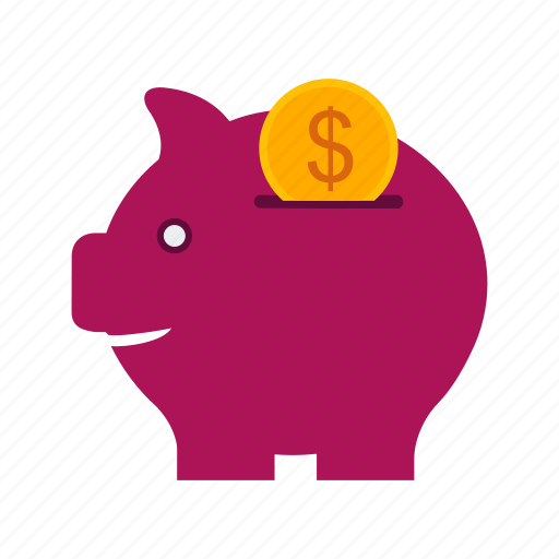 bank, coin, currency, money, piggy, saving, savings icon