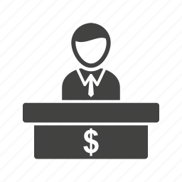 account, bank, cashier, currency, payment, transaction icon