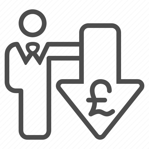 arrow, brexit, businessman, currency, exchange rate, man, pound icon