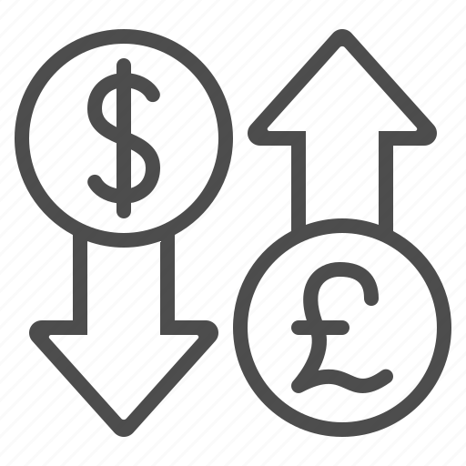 arrows, conversion, currency, dollar, exchange rate, pound icon