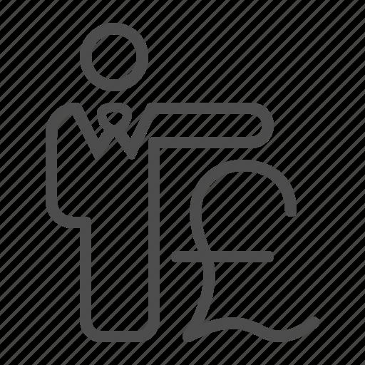 banker, broker, businessman, financial, pound sterling icon