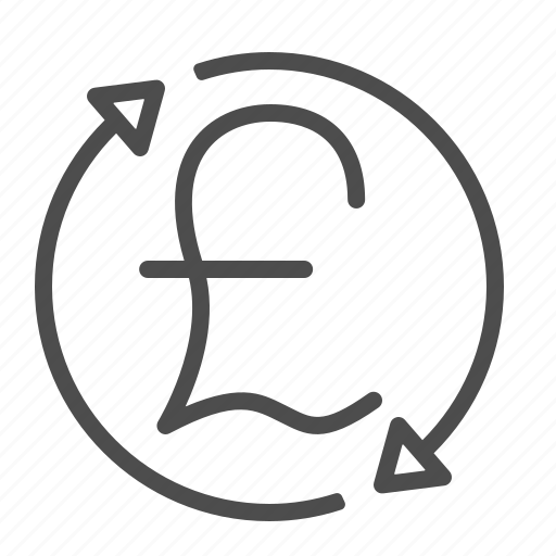 arrows, exchange rate, pound, sterling, transactions icon