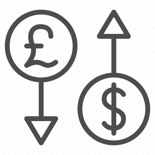 conversion, currency, dollar, exchange rate, pound icon