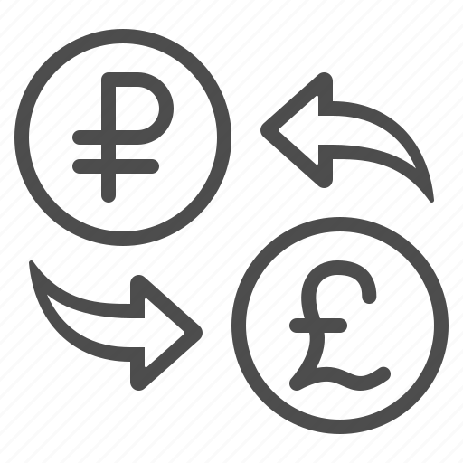 conversion, currency, exchange rate, pound, rouble, ruble icon