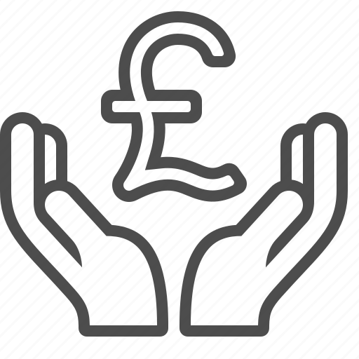 donation, hands, insurance, pound icon