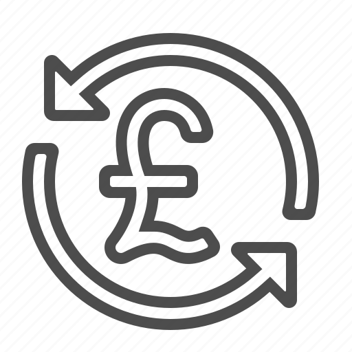 arrows, exchange rate, finance, pound icon