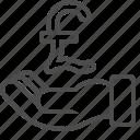 hand, pound icon