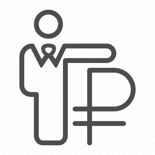 banker, broker, businessman, insurance, investment, rouble, ruble icon