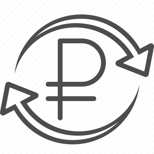 arrows, currency, exchange rate, rouble, ruble, russian, transaction icon