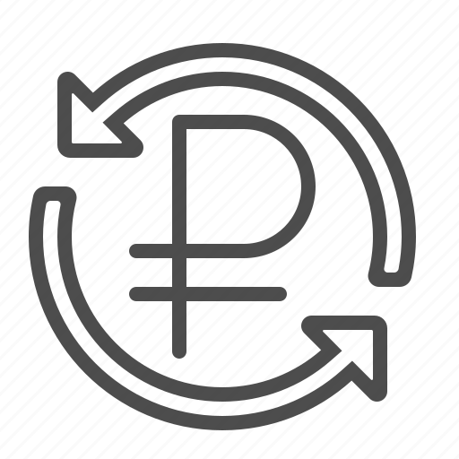 arrows, conversion, currency, exchange rate, rouble, ruble, transaction icon