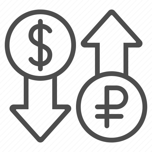 conversion, currency, dollar, exchange rate, rouble, ruble icon